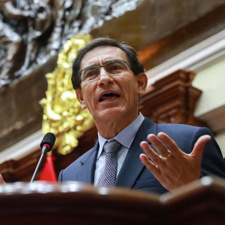 Vizcarra permanecerá em liberdade enquanto estiver sendo investigado pela acusação de ter recebido propinas - Andres Valle/Presidência do Peru/AFP