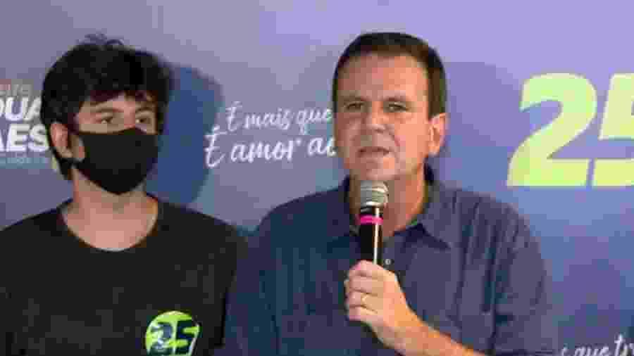29.nov.2020 - Eduardo Paes discursa após ser eleito à prefeitura do Rio de Janeiro. - Reprodução/CNN