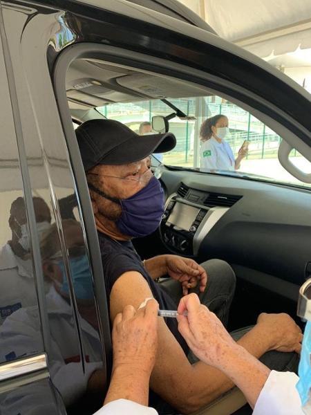 Martinho da Vila é vacinado no Rio - Reprodução/Instagram