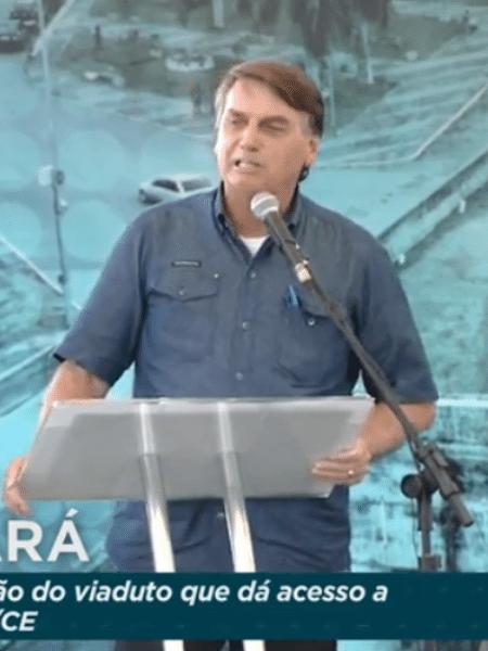 Bolsonaro compartilhou imagens de grupo de manifestantes que se reuniu em frente à casa do governador do Distrito Federal para protestar contra o fechamento de atividades não essenciais - Reprodução/TV Brasil