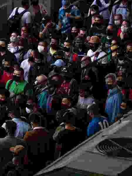Movimentação na estação Brás da CPTM, em São Paulo, durante a pandemia - Estadão conteúdo - Estadão conteúdo