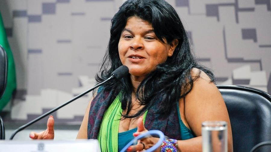 Líder indígena Sônia Guajajara foi intimada pela PF por críticas ao governo Bolsonaro - Jane de Araújo/Agência Senado