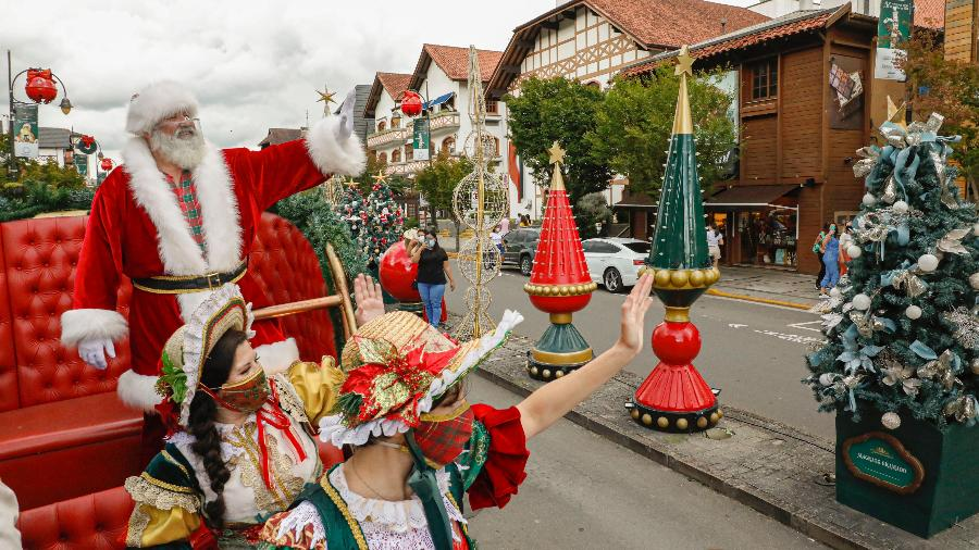 Em 2020, Natal Luz de Gramado já ocorreu com restrições - Cleiton Thiele/Divulgação