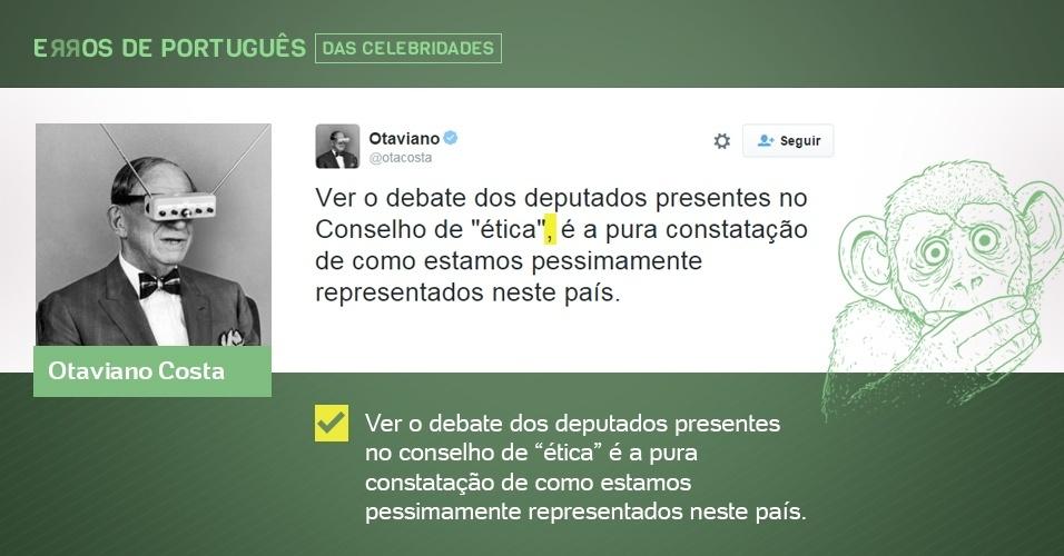 erros de português de celebridades - Otaviano Costa