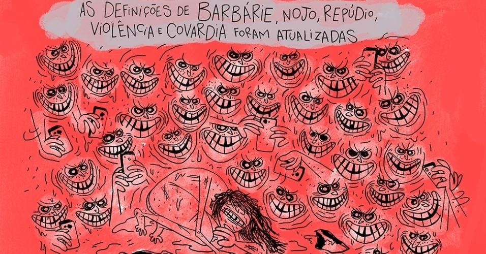 27.mai.2016 - Estupro coletivo de menina de 16 anos no Rio choca o Brasil