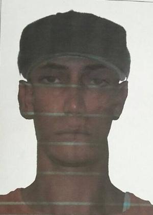 Polícia divulga retrato falado de suspeito de matar rapaz com pedrada - Divulgação/Polícia Civil de São Paulo