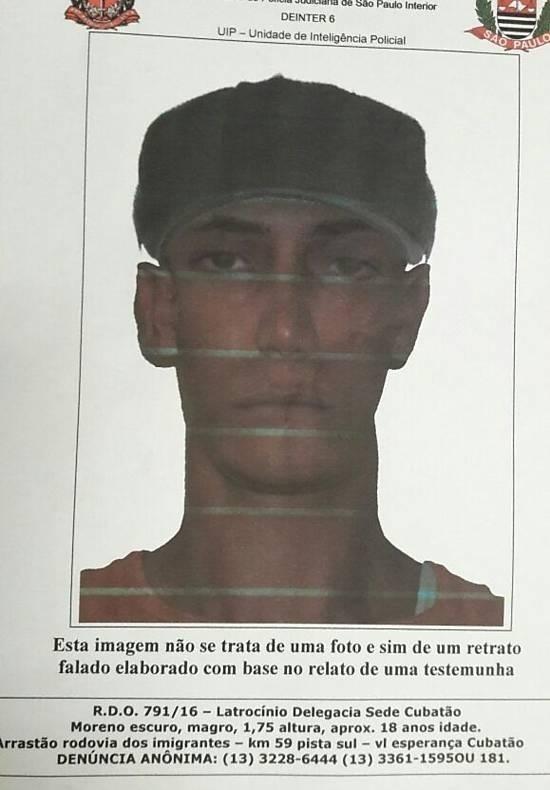 Polícia divulga retrato falado de suspeito de matar rapaz com pedrada