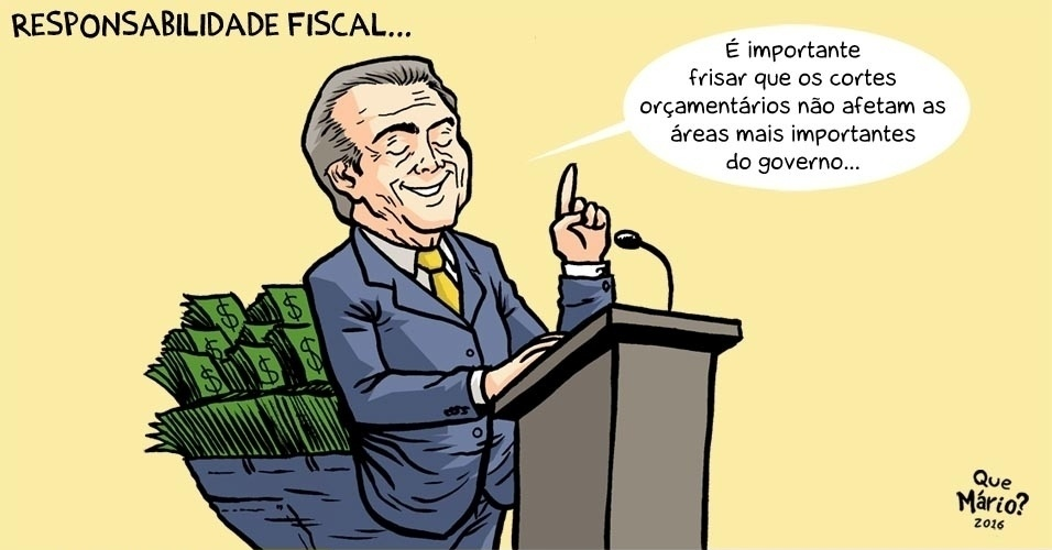 "8.jun.2016 - Cortes de gastos poupam áreas importantes do governo: as ""poupanças"""