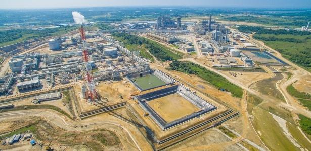 Imagem aérea do Complexo Petroquímico do México, em Nanchital