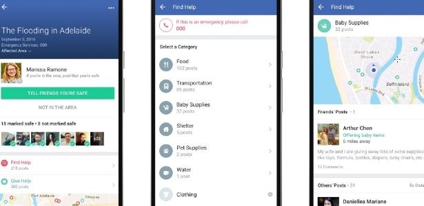 Facebook amplia ferramentas para Safety Check (checagem de segurança) dos usuários em desastres