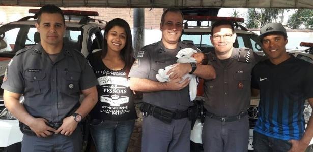Policial militar salvou a vida de bebê que se engasgou com o leite materno