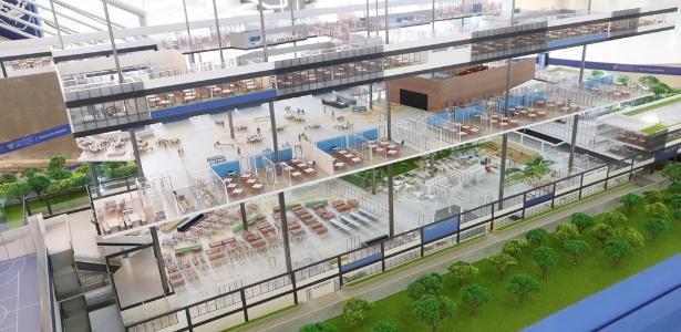 Simulação de como deverá ficar a nova sede do Colégio São Luís, em São Paulo - Divulgação/Colégio São Luís