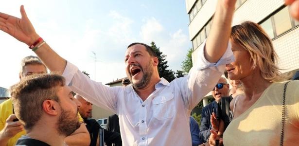 Matteo Salvini é o polêmico ministro do Interior da Itália - EPA