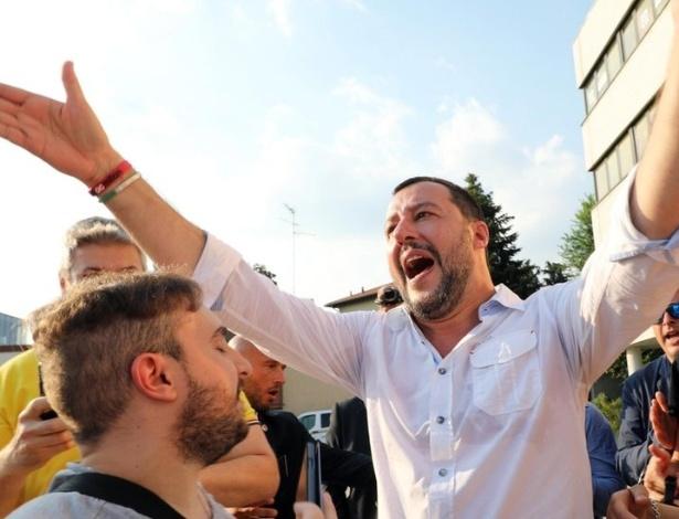 Matteo Salvini (foto), o poderoso líder da Liga anti-imigração, escolheu jornalista polêmico para comandar a RAI, a emissora estatal de TV da Itália - EPA