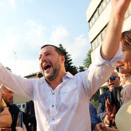 Matteo Salvini, ministro do Interior, é parte de endurecimento contra imigração na Itália - EPA
