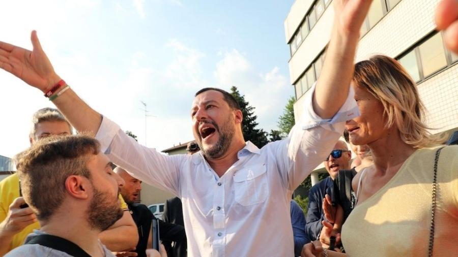 O ministro do Interior italiano, Matteo Salvini - EPA