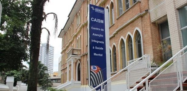 Entrada do Caism (Centro de Atenção Integrada à Saúde Mental), na Vila Mariana, SP