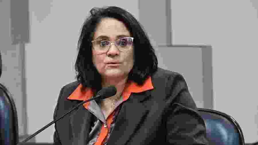 21.fev.2019 - Ministra Damares Alves fala à Comissão de Direitos Humanos do Senado - Geraldo Magela/Agência Senado