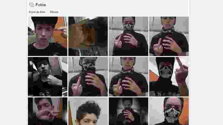 Nas redes sociais, Guilherme postou cerca de 20 fotos antes do massacre em Suzano (SP) - Reprodução/Facebook - Reprodução/Facebook