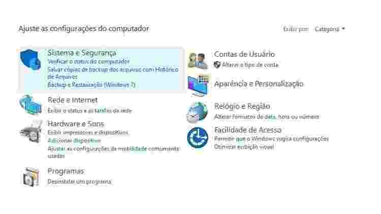 configuração computador - Reprodução - Reprodução
