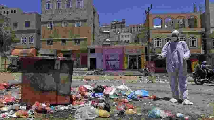 O conflito no Iêmen, que já dura 5 anos, é um obstáculo para o registro de casos de Covid-19 - Getty Images