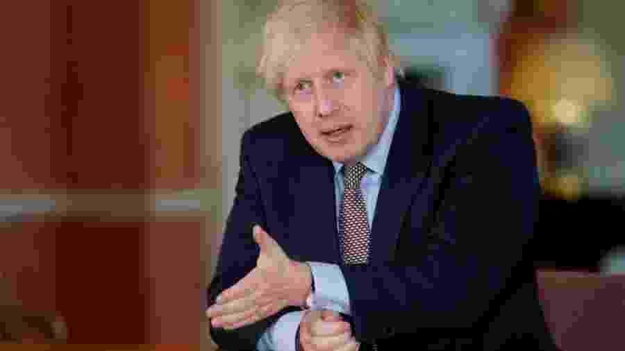10.mai.2020 - O primeiro-ministro do Reino Unido, Boris Johnson, esclarece a próxima fase de relaxamento do lockdown no país - Divulgação/10 Downing Street via Getty Images