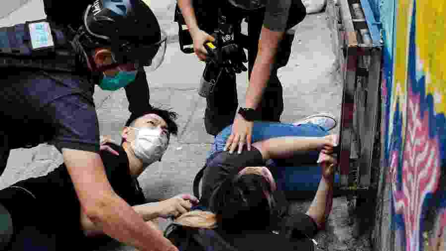 Polícia prende manifestantes em Hong Kong durante ato contra lei de segurança aprovada pela China - Tyrone Siu