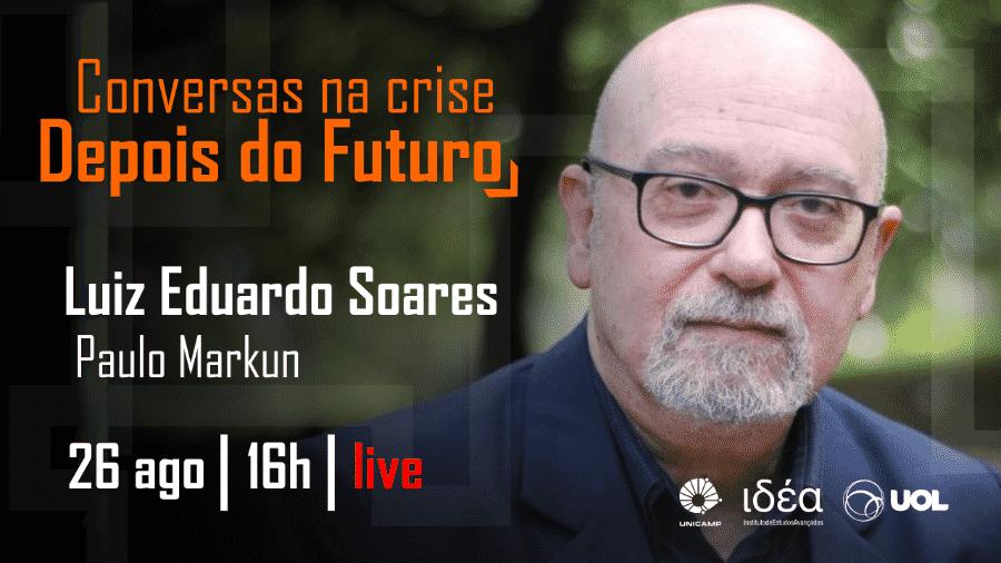"""Luiz Eduardo Soares no """"Conversas na Crise"""" - Arte/IdEA-Unicamp"""