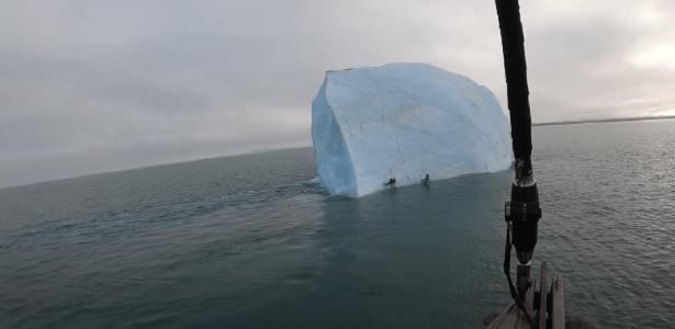 Repentinamente | Iceberg vira e quase esmaga exploradores no Polo Norte