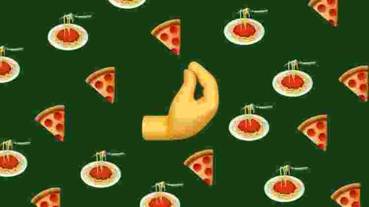 O caliente significado do emoji de mão italiana - Montagem de Rafaella Robba/Canva - Montagem de Rafaella Robba/Canva