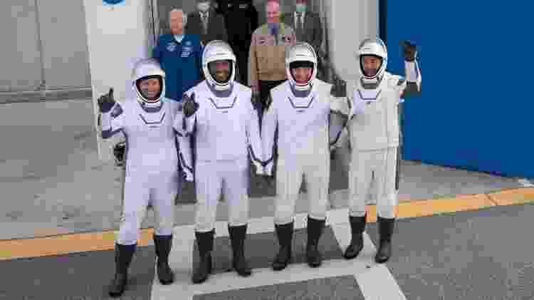 Tripulação da missão Crew-1, da Nasa em parceria com a SpaceX - Joel Kowsky/Nasa - Joel Kowsky/Nasa