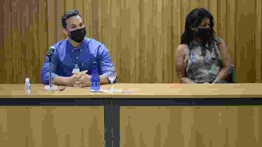 2.dez.2020 - Marlí Peçanha participa da coleitva do prefeito eleito do Rio de Janeiro, Eduardo Paes (DEM). Ela fui anunciada como a primeira mulher negra a compor o secretariado da futura administração - ADRIANO ISHIBASHI/FRAMEPHOTO/ESTADÃO CONTEÚDO