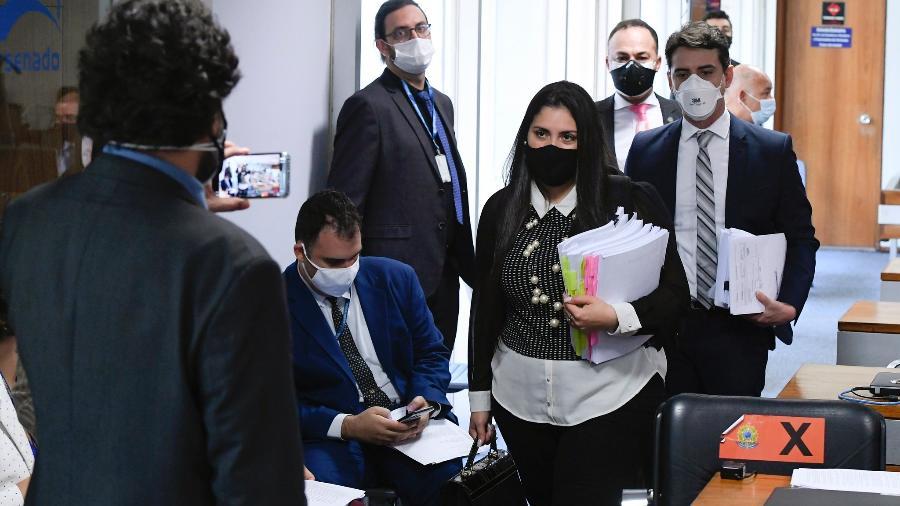 Advogada Bruna Morato, que representa médicos que denunciaram irregularidades na Prevent Senior, na CPI da Covid - Edilson Rodrigues/Agência Senado