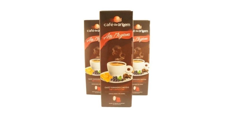 Café da Origem - Alta Mogiana: R$ 15,90 - caixa com 10 unidades - Frete gratuito acima de R$100 para entregas no estado de São Paulo e nas cidades de Belo Horizonte, Curitiba, Florianópolis e Rio de Janeiro