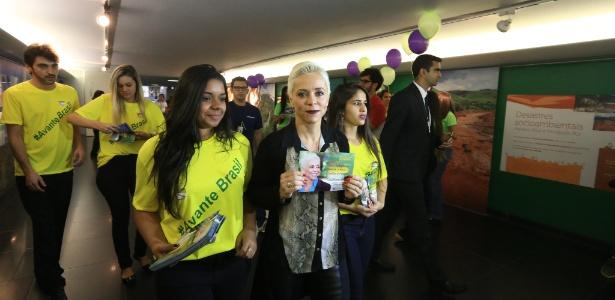 11.jul.2016 - A deputada Cristiane Brasil (PTB-RJ) no dia em que protocolou sua candidatura à Presidência da Câmara