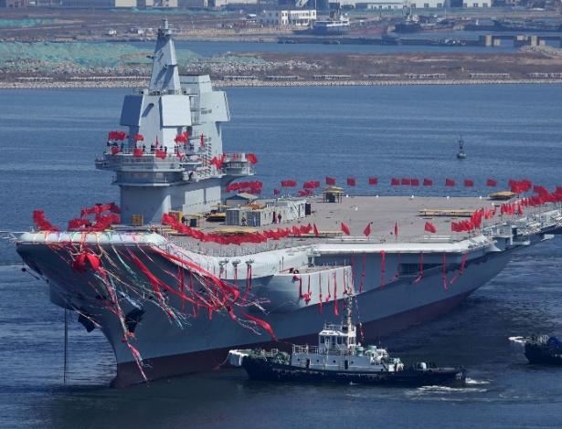 Segundo porta-aviões chinês, construído totalmente nos estaleiros chineses
