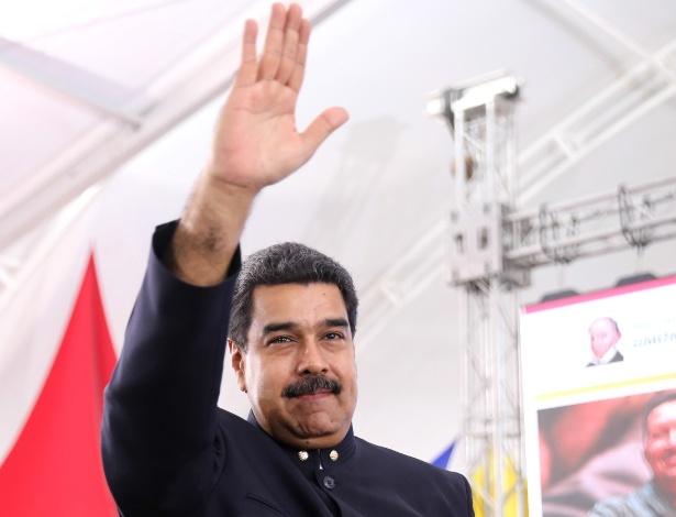 O presidente venezuelano, Nicolás Maduro, em evento nesta quinta-feira (11)