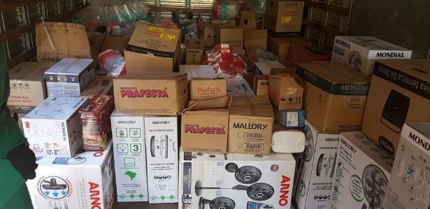 Carga roubada de supermercado na cidade de Valença (PI)