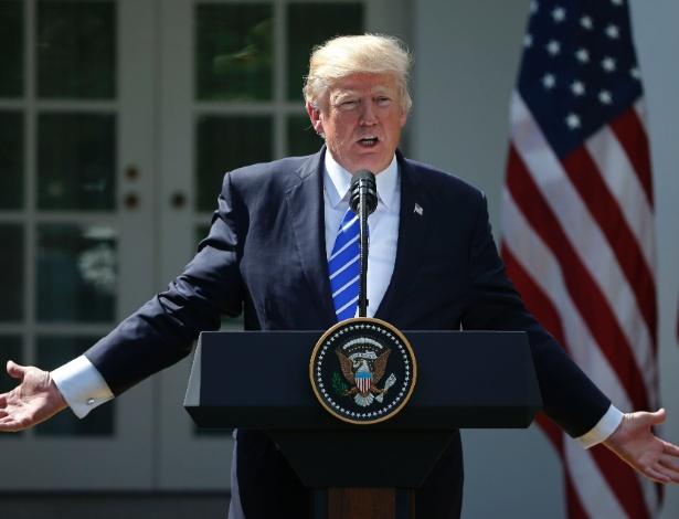 O presidente dos EUA, Donald Trump, na Casa Branca