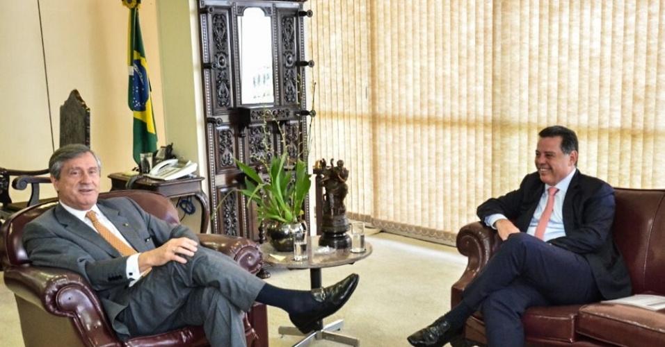 10.jan.2017 -- O ministro da Justiça, Torquato Jardim, e o governador de Goiás, Marconi Perillo (PSDB)