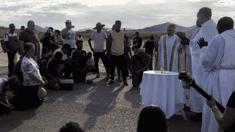 Na fronteira com Venezuela, grupo de missionários celebra missa - Aliança de Misericórdia
