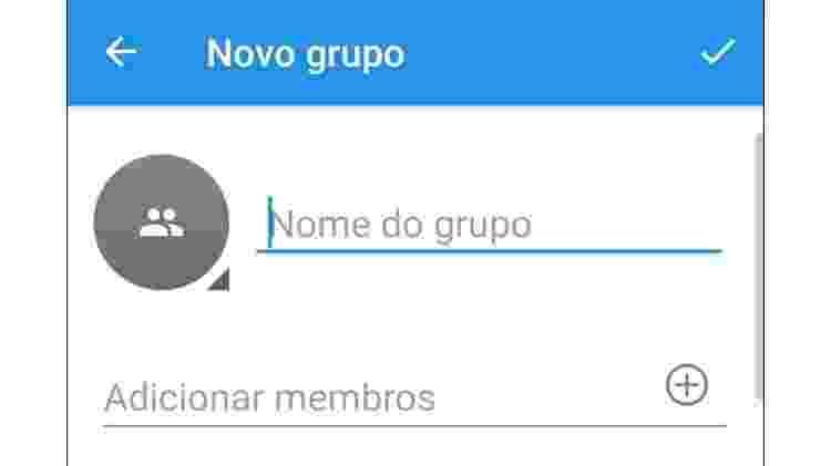 App permite criação de grupos, assim como nos concorrentes - Reprodução