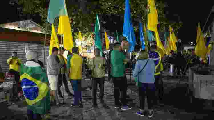 12.jul.2019 - Protesto de apoiadores de Sergio Moro contra a presença do jornalista Glenn Greenwald na Flip, em Paraty (RJ) - Mathilde Missioneiro/Folhapress