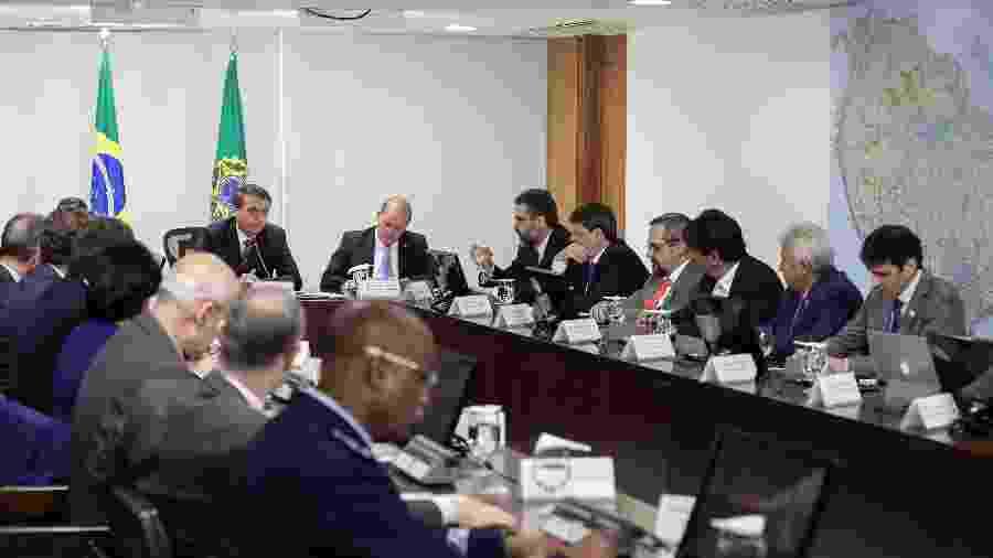 O presidente Jair Bolsonaro se reúne com ministros e governadores da Amazônia Legal  - Marcos Corrêa/PR