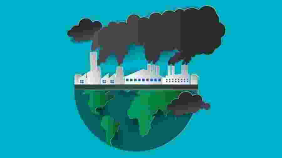 O dióxido de carbono é o principal gás responsável pelo efeito estufa - GETTY IMAGES