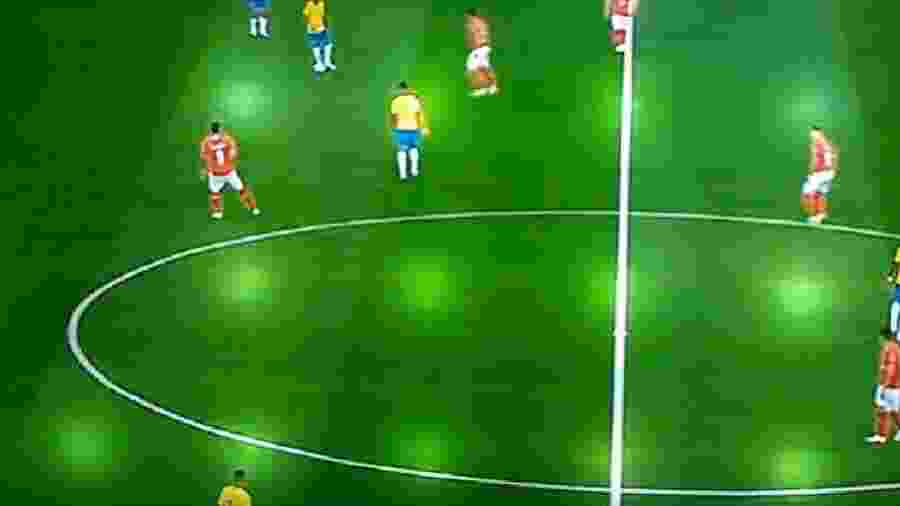 Imagem mostra defeito em imagem de TV - Reprodução