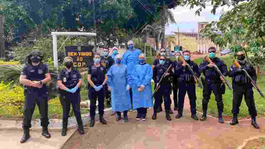 Frente do CDP (Centro de Detenção Provisória) da Papuda, no DF, com alas exclusivas para detentos com casos confirmados de coronavírus - Divulgação/TJDFT