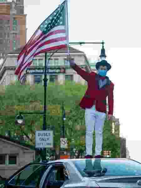 O estado de Nova York é o que registra o maior número de casos oficiais da covid-19 nos EUA, com um total de 401.345 - Alexi Rosenfeld/Getty Images