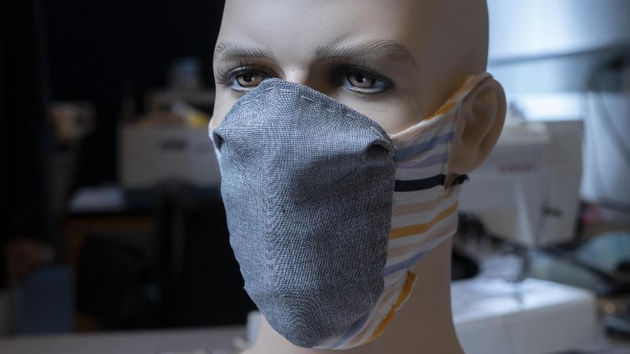 Máscara de prevenção a covid do Instituto de Tecnologia da Georgia - Christopher Moore, Georgia Tech/Divulgação