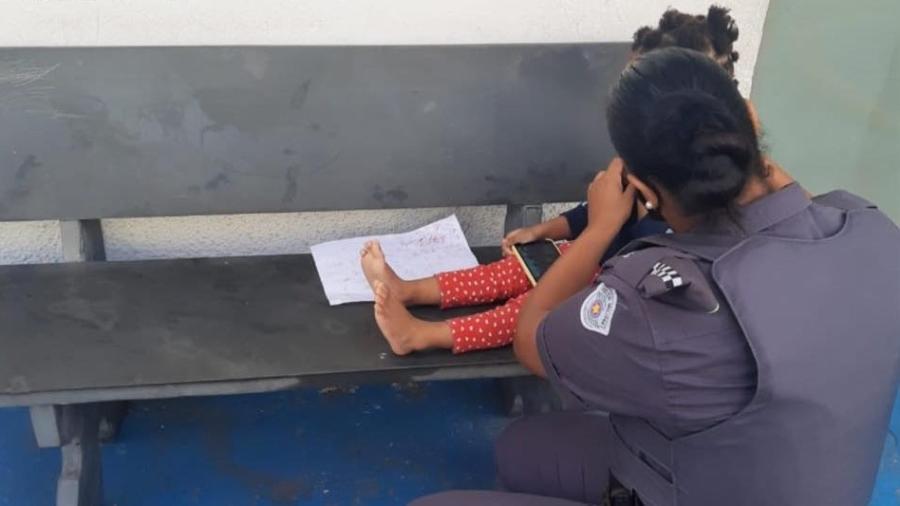 Menina encontrada amarrada com fio na zona leste de SP - Divulgação/PM